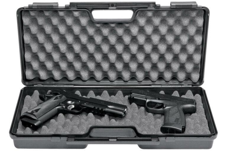 Pistolkuffert - Stor med skum-161