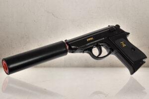 James Bond Pistol inkl lyddæmper-0