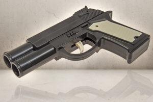 Dobbeltløbet Hundeprop Pistol-0
