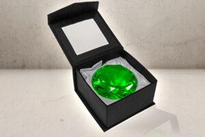 Kæmpe Juvel / diamant i Grøn-0