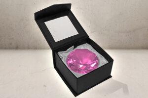 Kæmpe Juvel / diamant i Pink-0
