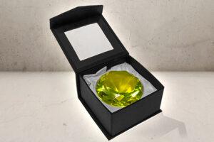 kæmpe Juvel / diamant i Gul-0