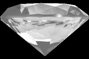 Kæmpe glas diamant i Klar-0