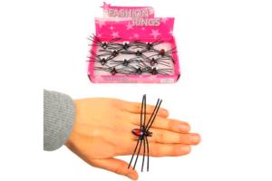 Edderkoppe Ring med glitter-0