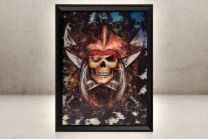 Skeletons Pirate 3D Hologram Billede-0