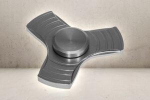 Aluminiums Fidget Spinner - Silver-0