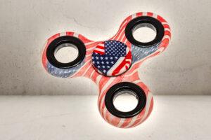 Classic American Flag Fidget Spinner-0