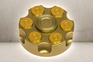 Revolver Drum Fidget Spinner - Gold Edition-0