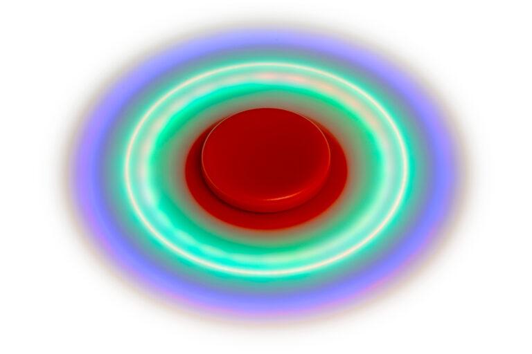 Fidget Spinner med Lys - Gul-30503