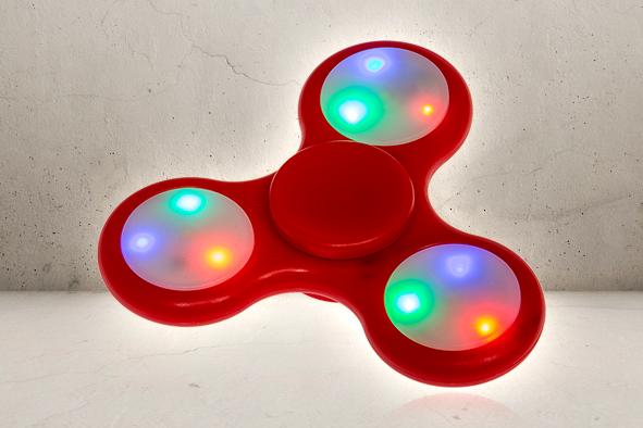 Fidget Spinner - Med lys-0