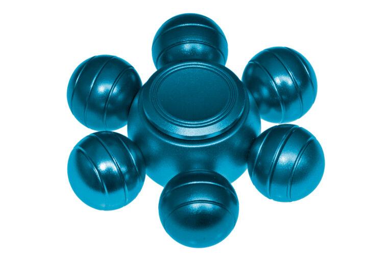 Orbs Alu Fidget Spinner - Blue-30772