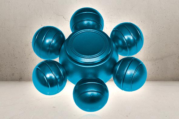 Orbs Alu Fidget Spinner - Blue-0