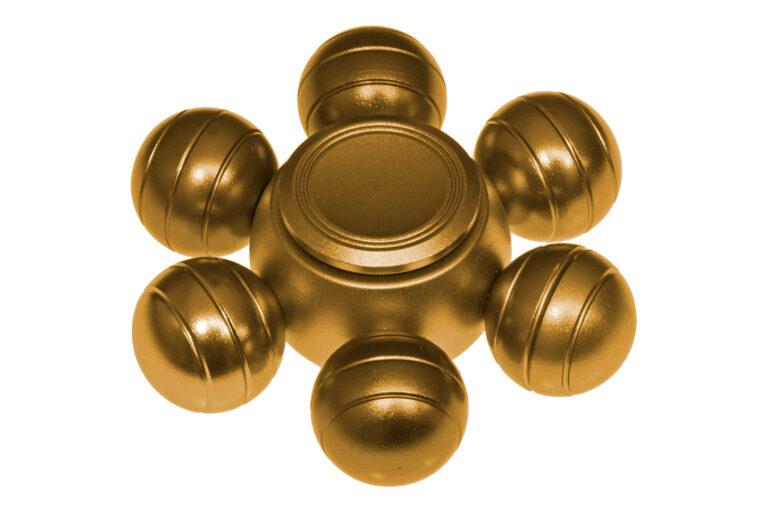 Orbs Alu Fidget Spinner - Gold-30770