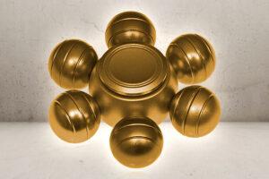 Orbs Alu Fidget Spinner - Gold-0