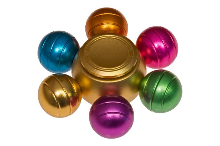 Orbs Alu Fidget Spinner - Rainbow-30826