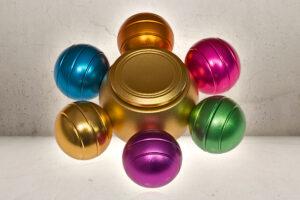 Orbs Alu Fidget Spinner - Rainbow-0