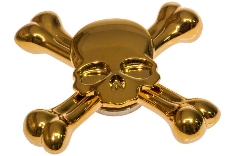 Skull Fidget Spinner - Golden-30881