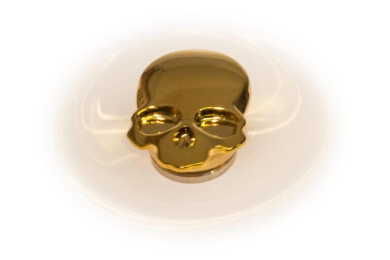 Skull Fidget Spinner - Golden-30880