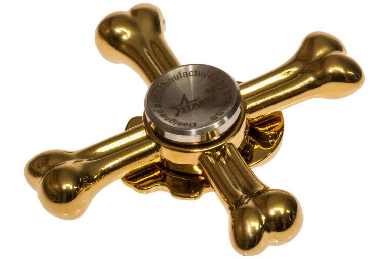 Skull Fidget Spinner - Golden-30884