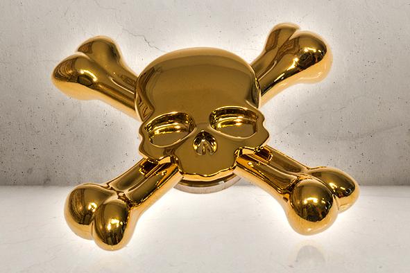 Skull Fidget Spinner - Golden-0