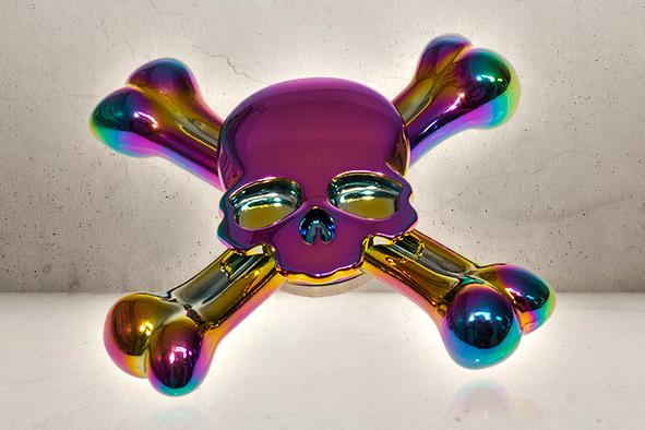 Skull Bones Fidget Spinner - Rainbow-0