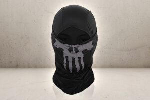 Ghost Skull Balaclava - Black-0