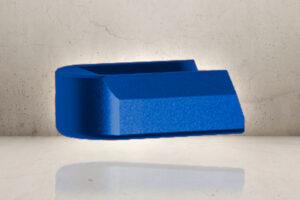 Aluminum Magazine Plate - Blue-0