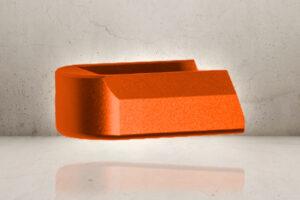Aluminum Magazine Plate - Orange-0