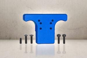 Aluminum Rear Sight Plate - Blue-0