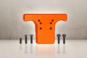 Aluminum Rear Sight Plate - Orange-0