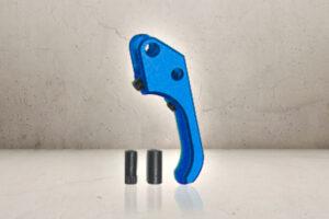 Custom CNC SAO Aluminum Trigger - Blue-0