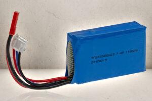 7.4v 1100mAh LiPO Batteri-0