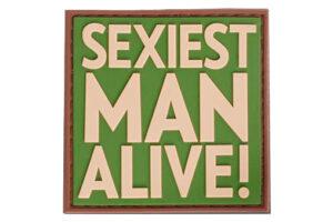 3D PVC Sexiest Man Alive Patch-0