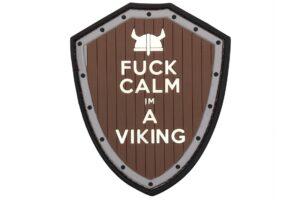 Fuck Calm I'm a Viking - Brown/Grey-0