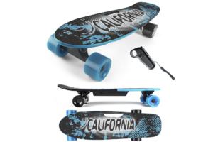 Her ser du E-Skateboard Blue