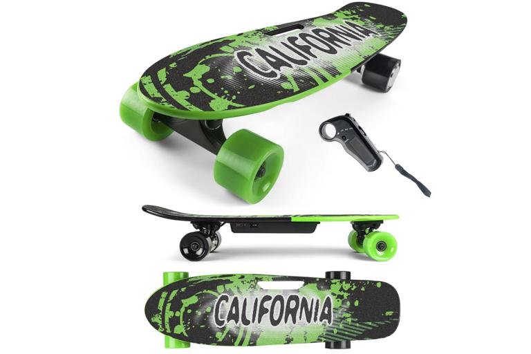 Her ser du California e-skateboard grøn