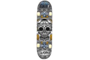 Skateboard mexican skull