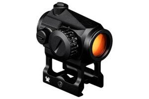 Vortex Optics Crossfire Rødpunktsigtet på en AR15 Højt mount forfra