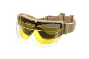 X800 Deluxe Goggles - Tan-0